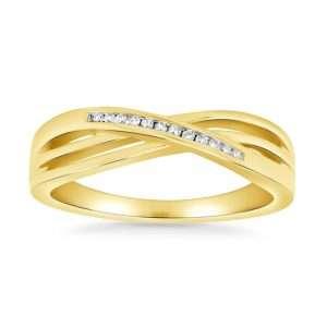 Rivoli 9ct Twist Ring