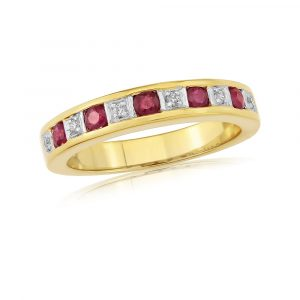 Rivoli Ruby Eternity Ring