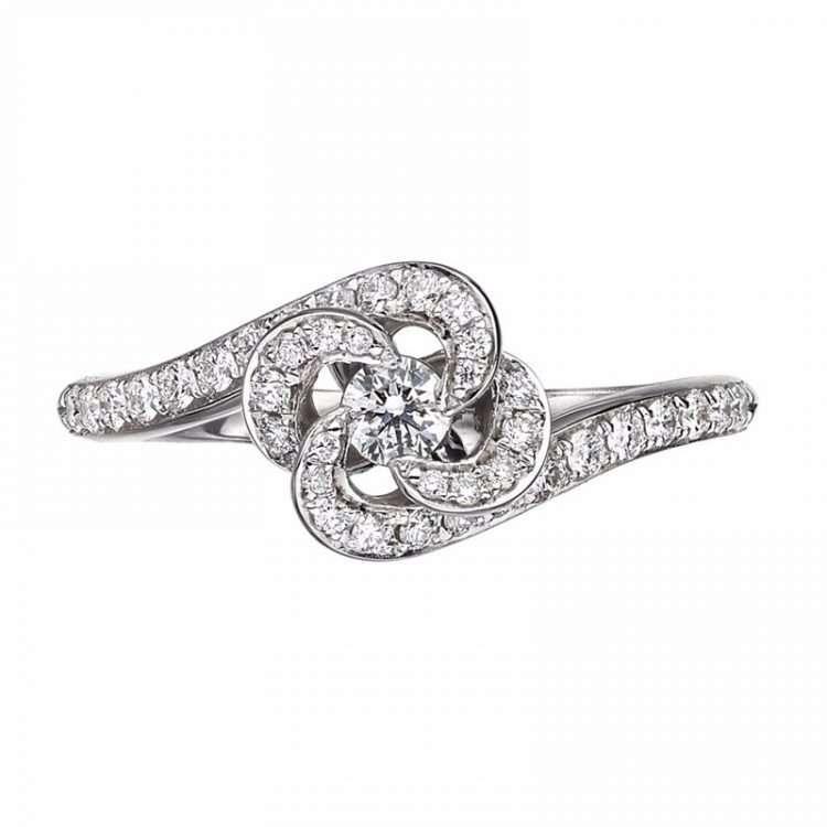 Shaun Leane Diamond Engagement Entwined Petal Ring : EN035.WGWHRZM