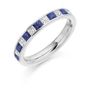 18ct Diamond and Sapphire Eternity Ring