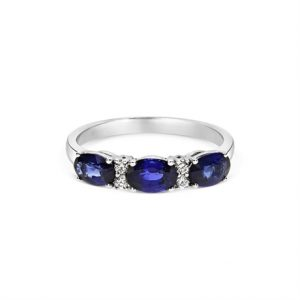 18ct Sapphire and Diamond Cluster