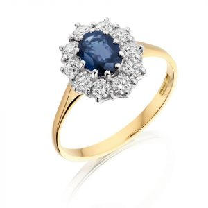 8ct Oval Sapphire and Diamond Ring