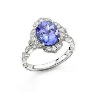 18ct Tanzanite and Diamond Ring : 0145032