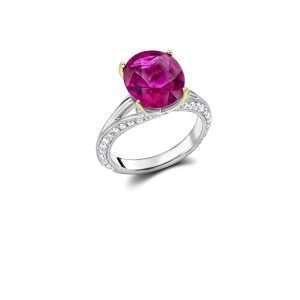 18ct Rubelite and Diamond Dress Ring