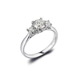 18ct Diamond Trilogy Ring, 1.14ct