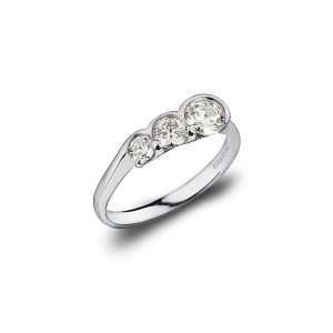 18ct Round Brilliant Diamond Trilogy Ring, 0.70ct