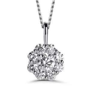 Brown & Newith 9ct Bella Diamond Pendant, 0.15ct