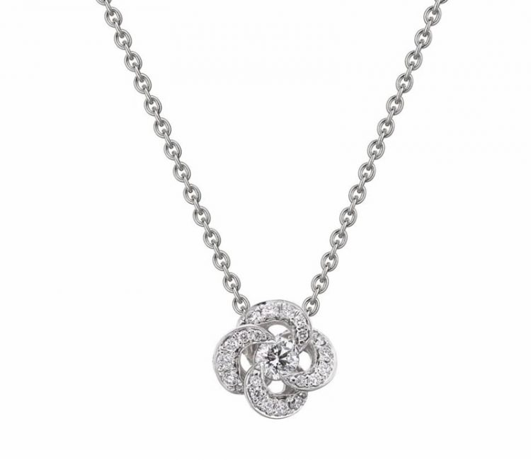 Shaun Leane Diamond Entwined Petal Necklace, EN042.WGWHNOS