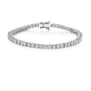 18ct Flexilink Diamond Tennis Bracelet, 6ct