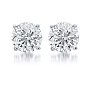 Rivoli 18ct Diamond Solitaire Earrings, 1.41ct