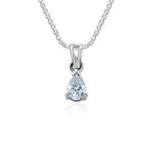 18ct Pear Cut Diamond Pendant, W2AP14
