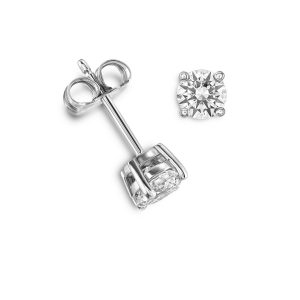 18ct Diamond Solitaire Earrings, 0.20ct