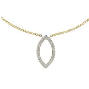 18ct Diamond Open Marquise Shape Diamond Pendant