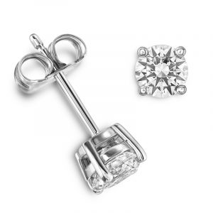 18ct Diamond Solitaire Earrings