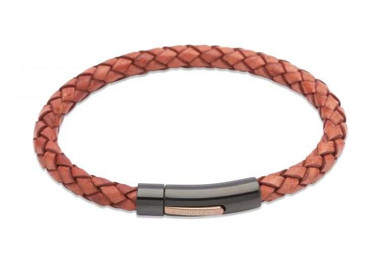 Unique and Co Antique Tan Leather Bracelet