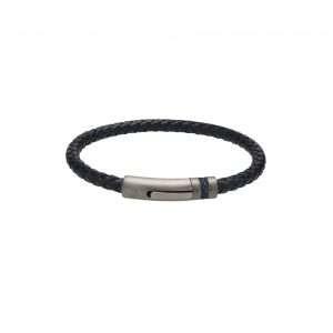 Unique and Co Navy Leather Bracelet
