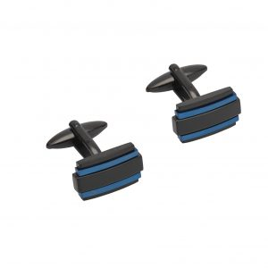 Unique and Co Black and Blue Cufflinks