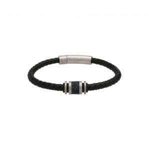Unique and Co Black Leather Bracelet