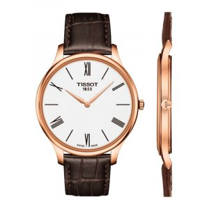 Tissot Tradition 5.5 Rose Gold Leather Strap
