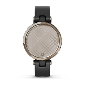 Garmin Lily™ Cream Gold Bezel with Black Case and Italian Leather Band : 010-02384-B1
