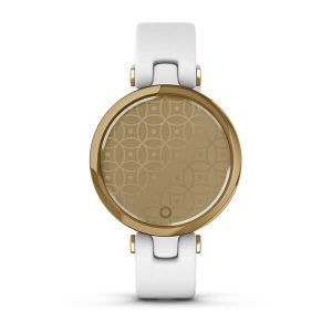Garmin Lily™ Light Gold Bezel with White Case and Italian Leather Band : 010-02384-B3
