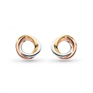 Kit Heath Bevel Trilogy Stud Earrings : 4169GRG