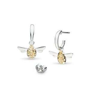 Kit Heath Blossom Flyte Honey Bee Semi Hoop Drop Earrings : 60338GRP