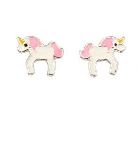 Girls Unicorn Stud Earrings