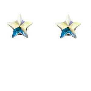 Girls Iridescent Star Stud Earrings