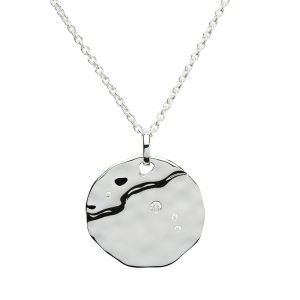 Zodiac Constellation Pendant, Aires, Sterling Silver