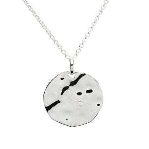Zodiac Constellation Pendant, Taurus, Sterling Silver