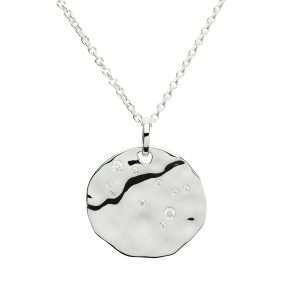 Zodiac Constellation Pendant, Gemini, Sterling Silver