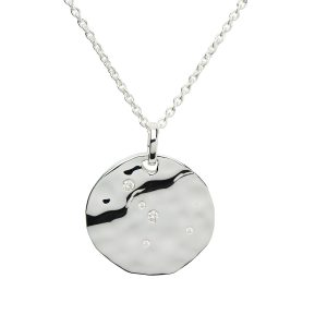 Zodiac Constellation Pendant, Cancer, Sterling Silver