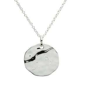 Zodiac Constellation Pendant, Leo, Sterling Silver
