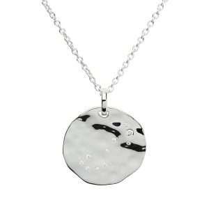 Zodiac Constellation Pendant, Scorpio, Sterling Silver
