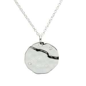 Zodiac Constellation Pendant, Capricorn, Sterling Silver