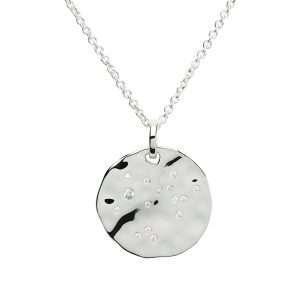 Zodiac Constellation Pendant, Sagitarius, Sterling Silver
