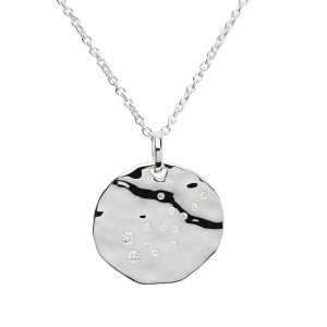 Zodiac Constellation Pendant, Virgo, Sterling Silver