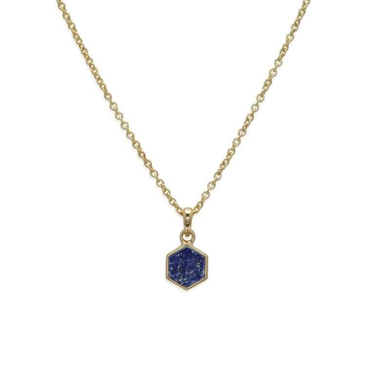 Unique and Co Lapis Lazuli Pendant, Gold Plated : 1557081