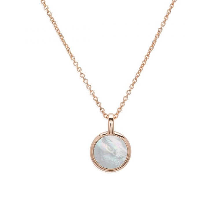 Unique and Co Mother of Pearl Pendant, Rose Gold Plated : 1557085