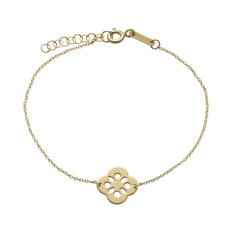 Unique and Co Gold Plated Flower Bracelet : 1811303