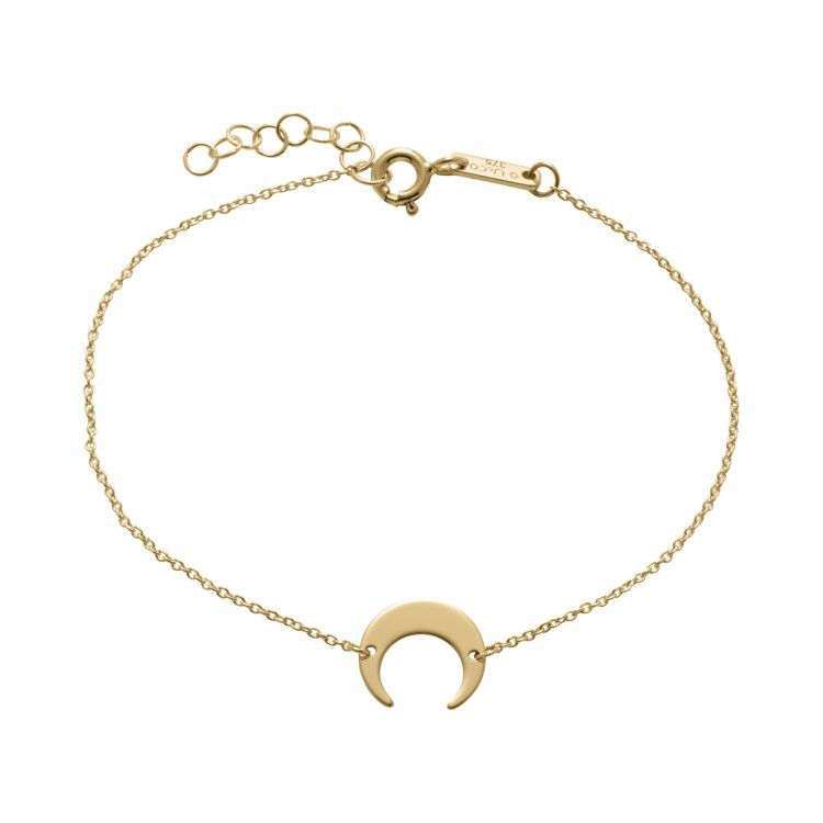 Unique and Co Gold Plated Horn Bracelet