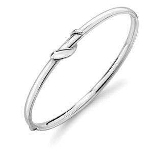 9ct White Gold Serpents Bangle