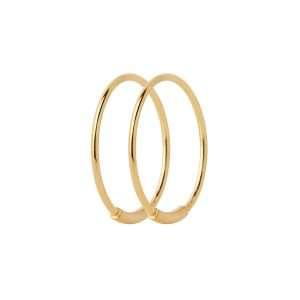 Maria Black Basic 16 Hoop, Gold Plated : 100222