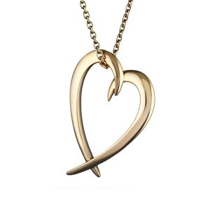 Shaun Leane Yellow Gold Vermeil Hooked Heart Pendant : SA019.YBNANOS