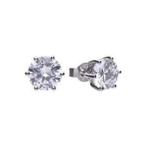 Diamonfire 6 Claw Stud Earrings, 2ct : E5631