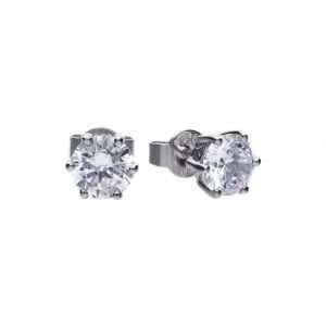 Diamonfire 6 Claw Stud Earrings, 1ct : E5581