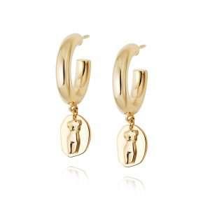 Daisy Athena Hoop Earrings: AE01_GP
