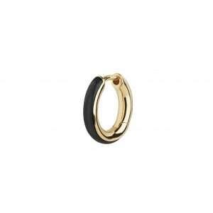 Maria Black Kate Ebony Huggie Earring, Gold Plated : 100791YG-EBONY