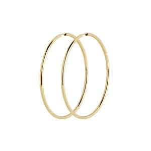 Maria Black Senorita 50 Hoop Earrings, Gold Plated : 100700YG-5